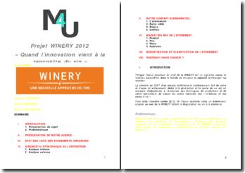 Quand l'innovation vient à la rencontre du vin : Winery, une nouvelle approche du vin