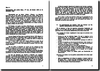 Commentaire de deux arrêts rendus par la Première Chambre civile de la Cour de cassation, les 22 février 1978 et 13 décembre 1983