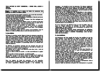 Origine et évolution de la notion de fonds de commerce (du XVIIIe au début du XXe siècle)