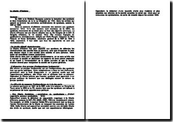 La Charte d'Amiens - le syndicalisme et le principe fondamental d'indépendance