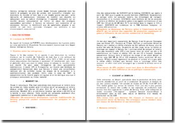 Analyse de l'environnement économique de l'entreprise Servary