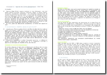 Introduction à « l'âge des découvertes géographiques » 1500-1700