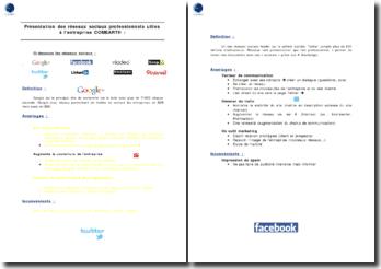 Présentation des réseaux sociaux professionnels utiles à l'entreprise COMEARTH