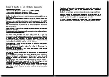 Le traité de Bruxelles du 8 avril 1965