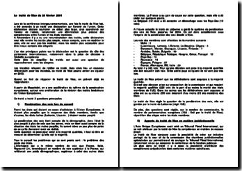 Le traité de Nice du 26 février 2001