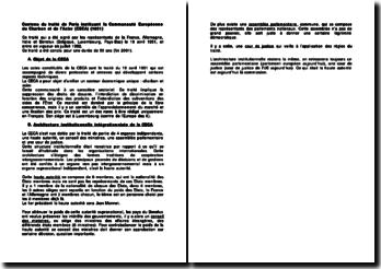 Contenu du traité de Paris instituant la Communauté européenne du Charbon et de l'Acier