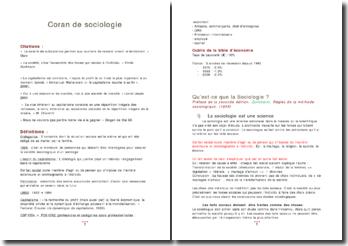 Coran de sociologie
