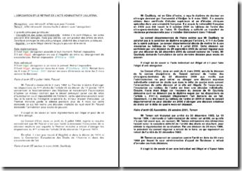 L'abrogation et le retrait de l'acte administratif unilatéral
