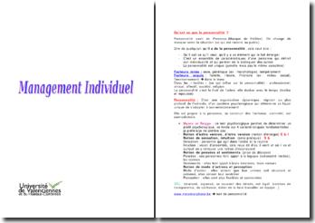 Le management individuel