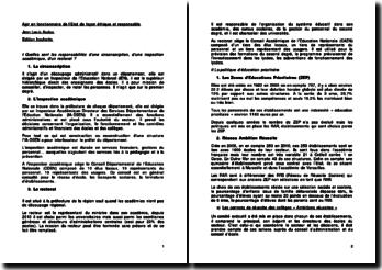Agir en fonctionnaire de l'Etat de façon éthique et responsable - Jean Louis Auduc