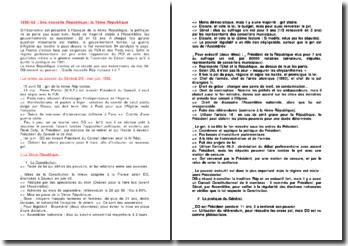 1958-1962 : Une nouvelle République: la Vème République
