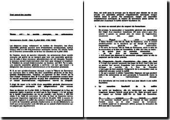 Commentaire d'arrêt de la Chambre commerciale de la Cour de cassation du 9 juillet 2002 : l'assemblée générale convoquée irrégulièrement