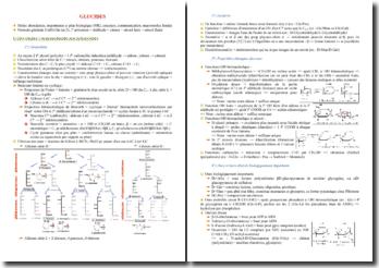 Cours de biochimie des glucides PACES (première année de médecine)
