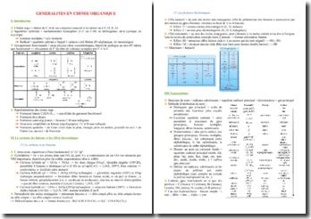 Cours de chimie organique PACES (première année de médecine)