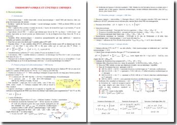 Cours de thermodynamique et cinétique chimique PACES (première année de médecine)