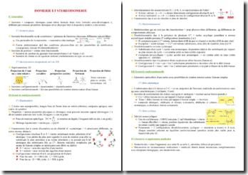 Cours sur l'isomérie et la stéréoisomérie PACES (première année de médecine)