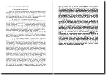 Le nouvel ordre international (1989-2001)