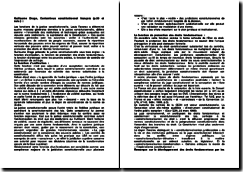 Contentieux constitutionnel français (p. 55 et suiv) - Guillaume Drago