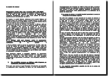 Commentaire d'arrêt de la Chambre commerciale de la Cour de cassation du 12 janvier 2010 : la cessation de créances