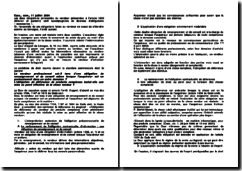 Commentaire d'arrêt de la Chambre commerciale de la Cour de cassation du 11 juillet 2006 : l'obligation de renseignement et de conseil