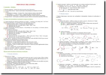 Cours sur les principaux mécanismes en chimie organique PACES (première année de médecine)