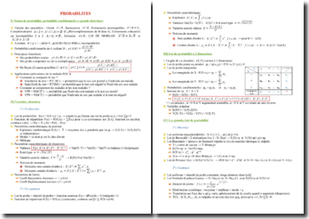 Notion et grandes lois de probabilités