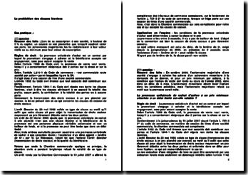 Etude de cas sur la prohibition des clauses léonines