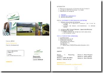 La stratégie d'extension d'une entreprise spécialisée dans le transport routier de marchandises :'entreprise SAS Lhéritier et fils