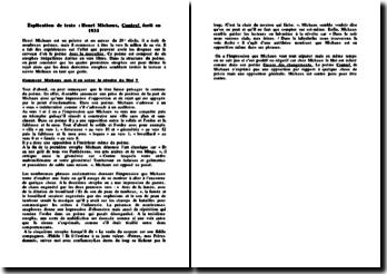 Contre ! - Henri Michaux, 1933 : la mise en scène de la révolte du Moi