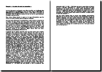 Le Dernier Jour d'un condamné, Les Châtiment - Victor Hugo et Réflexions sur la guillotine - Albert Camus : la peine de mort en accusation