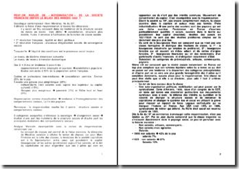 Peut-on parler de moyennisation de la société française depuis le milieu des années 1960?