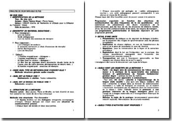 Analyse de deux manuels FLE