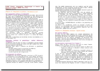 CLERC (Pascal), Géographies, Epistémologie et histoire des savoirs sur l'espace, chapitres 15 à 18, 2012