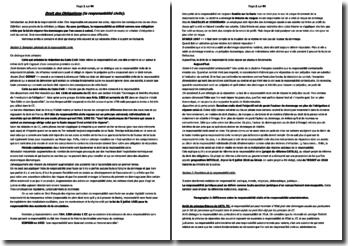 Droit des obligations : le droit de la responsabilité civile