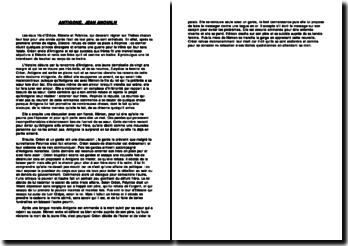 Un résumé d'Antigone de Jean Anouilh