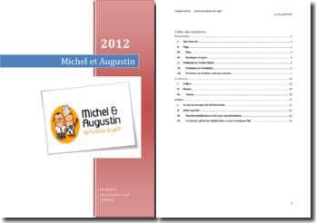 La communication en ligne de Michel et Augustin