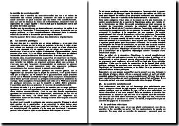 Les procédures qui permettent de veiller au respect de la Constitution