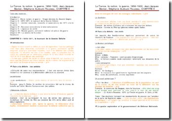 La France, la nation, la guerre, 1850-1920, Chapitre 2 - Jean-Jacques Becker, Stéphane Audouin-Rouzeau : 1870-1871, le tournant de la Grande Défaite