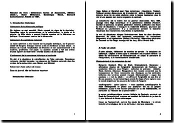 Littérature textes et documents, XIXème siècle - Henri Mitterand, Dominique Rincé, Bernard Lecherbonnier