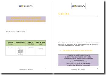 Dossier sur la gestion électronique des documents