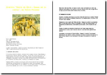 Analisis Horta de Ebro - Casas en la colina - Pablo Picasso
