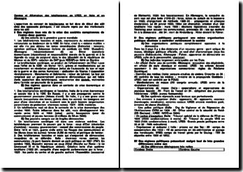 Genèse et affirmation des totalitarismes en URSS, en Italie et en Allemagne