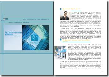 Projet d'entreprise : le crédit immobilier et hôtelier