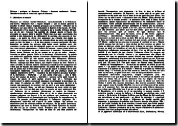 Critique et éthique en littérature - Tsvetan Todorov