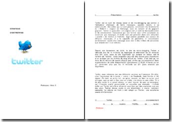 Analyse de la stratégie d'entreprise : Twitter