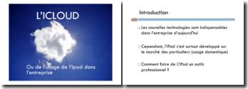 L'ICloud ou de l'usage de l'IPad dans l'entreprise