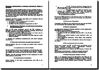 Entreprises multinationales et commerce international - Jean-Louis Mucchielli et Séverine Chédor