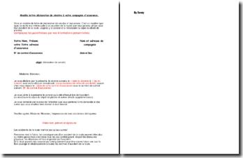 Modèle de lettre de déclaration de sinistre à votre compagnie d'assurance