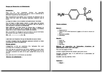 Dosage par Bromuration du Sulfanilamide