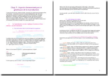 Aspects chromosomiques et génétiques de la reproduction